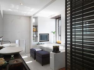 现代风格精致黑白色卫生间装修效果图赏析