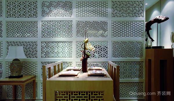 99平米新中式风格精致两室两厅室内装修效果图案例