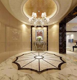 欧式风格别墅室内精致玄关吊顶设计装修效果图赏析