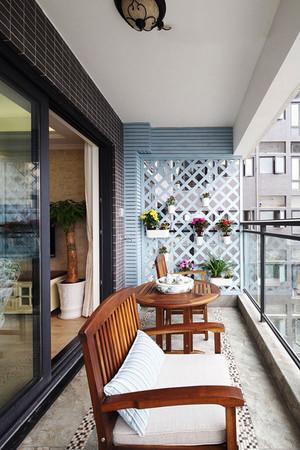 新中式风格休闲阳台设计装修效果图