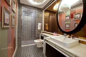 中式风格大户型精致卫生间瓷砖设计装修效果图赏析