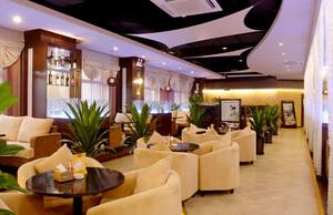 简欧风格文艺咖啡厅沙发设计装修效果图