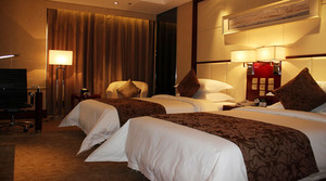 中式风格酒店标准间设计装修效果图赏析