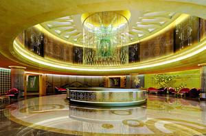 欧式风格奢华酒店大堂吊顶设计装修效果图赏析
