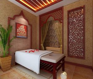 中式风格精致典雅美容院包房设计装修效果图