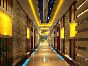 中式风格KTV走廊设计装修效果图