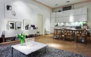 68平米北欧风格简约自然公寓装修效果图赏析