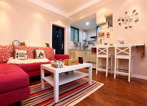67平米混搭风格时尚活泼一居室装修效果图赏析