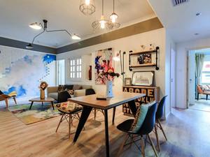 混搭风格创意客厅餐厅一厅吊顶装修效果图赏析