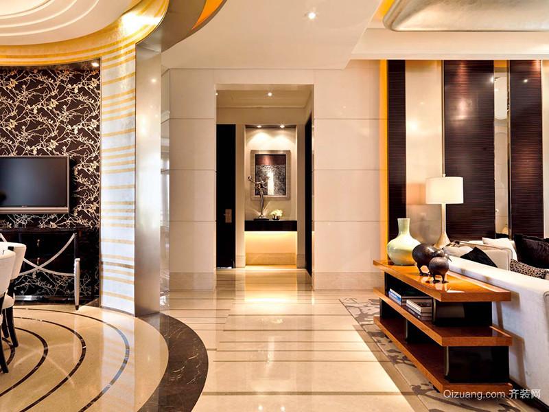 177平米欧式风格轻奢主义大户型室内装修效果图