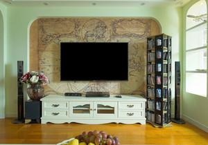 田园风格自然清新客厅电视背景墙装修效果图赏析