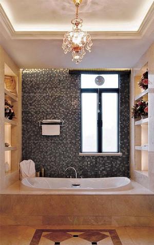 欧式风格米色卫生间瓷砖装修效果图赏析