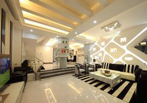 现代简约风格创意客厅背景墙装修效果图赏析