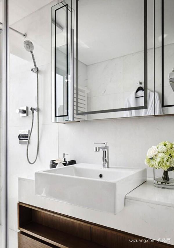 107平米中式风格简约三室两厅室内装修效果图赏析