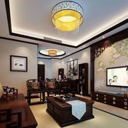 中式风格精致古典客厅电视背景墙装修效果图赏析