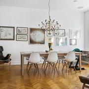 北欧风格大户型室内精致餐厅背景墙装修效果图