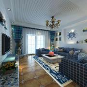 地中海风格大户型精致客厅设计装修效果图赏析