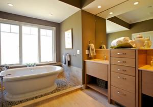 简约风格大户型精致卫生间设计装修效果图赏析