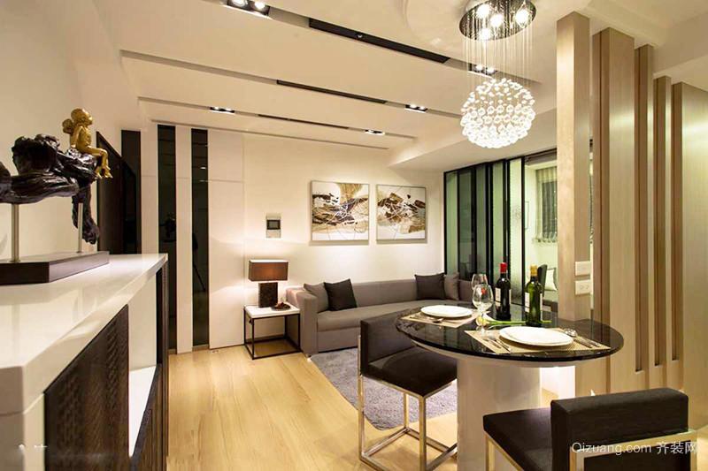 73平米现代简约风格一居室室内装修效果图赏析