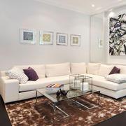 现代简约风格温馨客厅装修效果图赏析