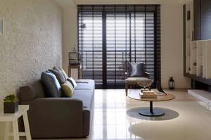 85平米现代风格裸色两室两厅室内装修效果图赏析
