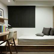 日式简约风格小户型榻榻米卧室装修效果图