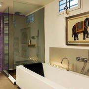 现代简约风格卫生间淋浴房设计装修效果图赏析
