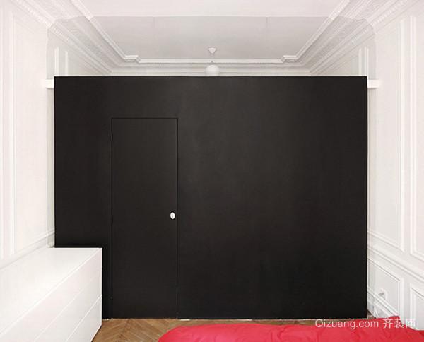 58平米现代简约风格黑白单身公寓装修效果图赏析