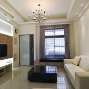 现代风格简约轻松客厅电视背景墙装修效果图