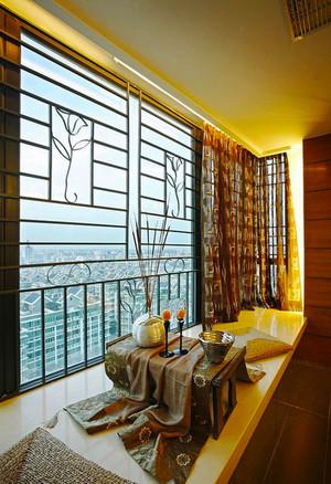 新中式风格典雅精致飘窗设计装修效果图