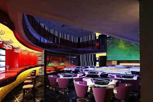 80平米现代简约风格小型酒吧吧台设计装修效果图