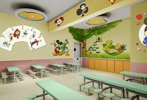 现代简约风格卡通幼儿园环境布置装修效果图