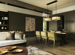新中式风格大户型雅致餐厅装修效果图