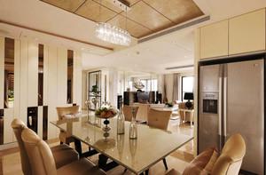 现代简约风格餐厅吊顶设计装修效果图