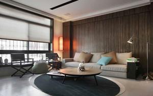 后现代风格深色系客厅设计装修效果图赏析