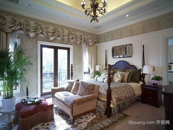 342平米美式风格精致别墅室内装修效果图案例