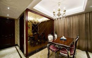美式风格深色系餐厅吊顶设计装修效果图