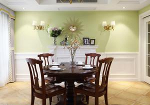 清新美式风格餐厅背景墙装修效果图赏析