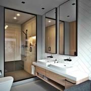 8平米现代风格卫生间淋浴房设计装修效果图