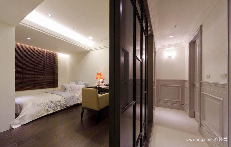 新中式风格主卧室隔断设计装修效果图赏析