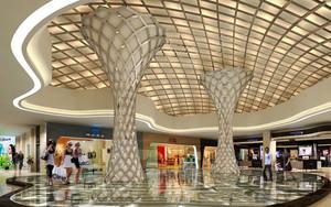 现代简约风格大型商场大厅设计装修效果图