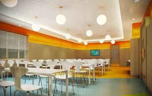 70平米现代简约风格幼儿园设计装修效果图