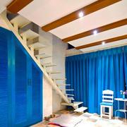 地中海风格创意复式楼梯设计装修效果图赏析