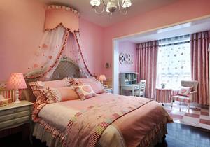 法式风格浪漫粉色儿童房卧室装修效果图