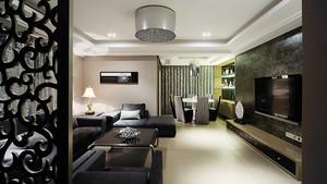 90平米后现代风格冷色调室内装修效果图赏析