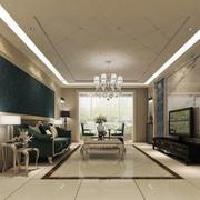 欧式风格大户型简约客厅设计装修效果图鉴赏