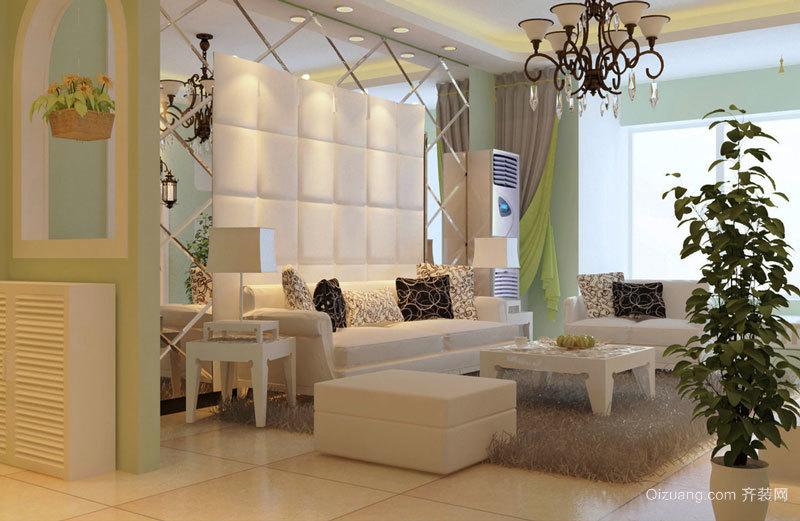 80平米欧式田园风格温馨室内装修效果图案例