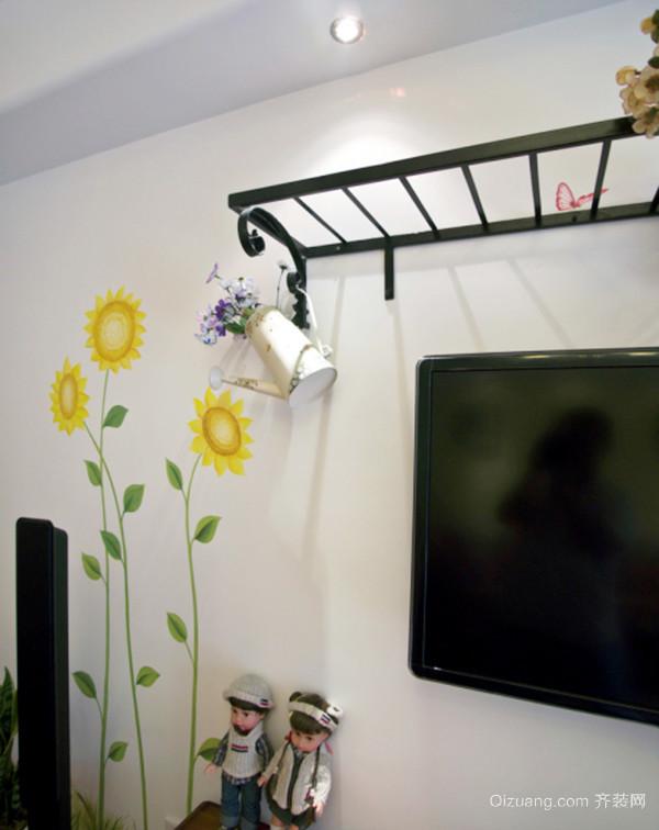 92平米田园风格婚房设计装修效果图赏析