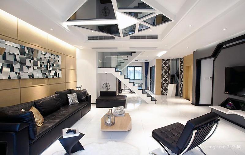 149平米现代简约风格复式楼装修效果图赏析