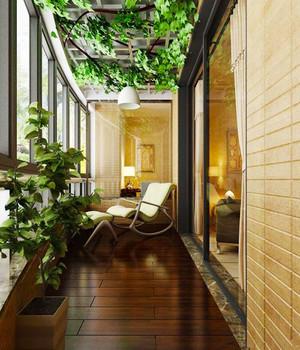 中式风格大户型封闭式阳台设计装修效果图赏析